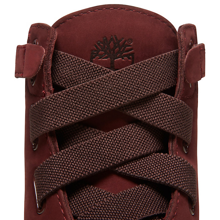 Premium 6 Inch Pull-On Boot for Women in Burgundy-