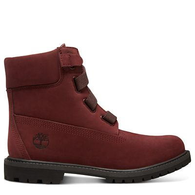 Premium+6+Inch+Pull-On+Boot+for+Women+in+Burgundy