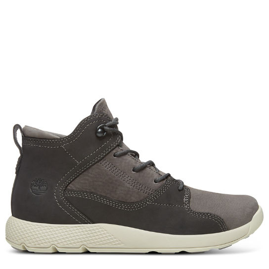 Junior Flyroam Leather Hiker Boot Slate Grey | Timberland