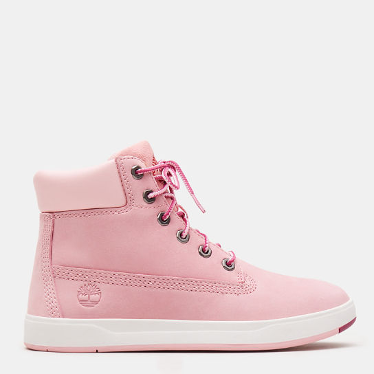 Davis Square 6 Inch Boot for Youth in Pink | Timberland