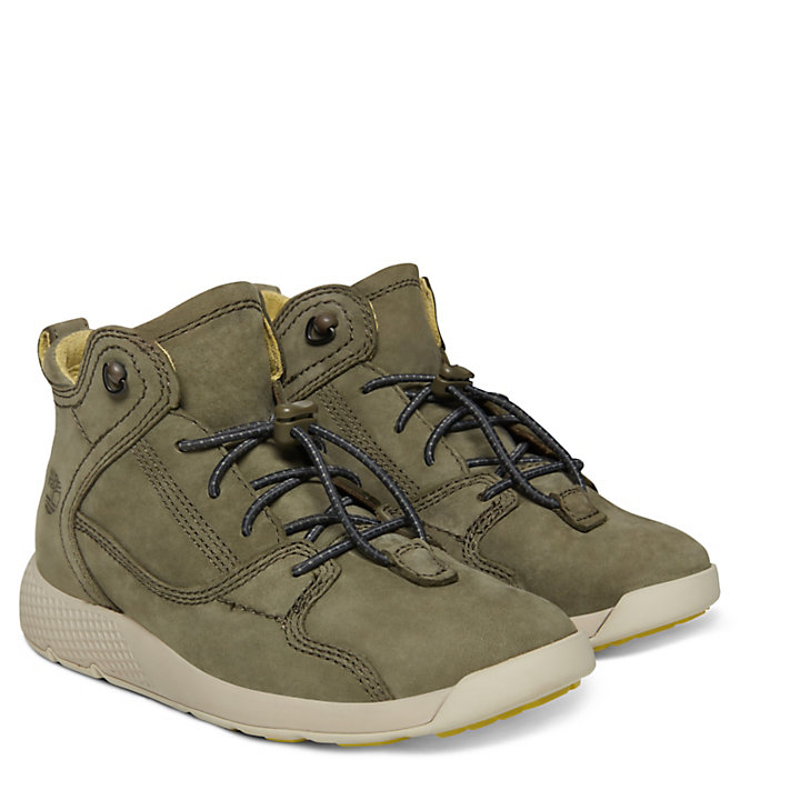 Flyroam™ High Top Sneaker for Youths in Dark Green-