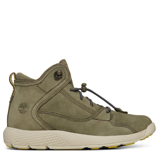 Flyroam™ High Top Sneaker for Youths in Dark Green | Timberland