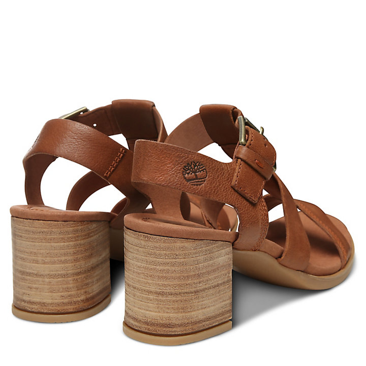 Tallulah May T-Band Sandal for Women in Brown-