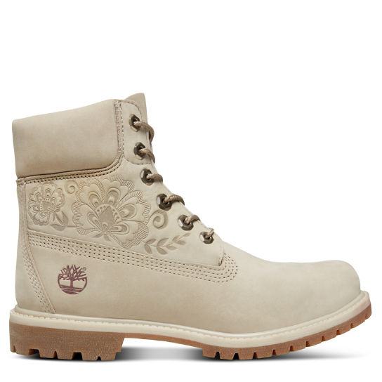 Icon 6 Inch Premium Boot for Women in Beige | Timberland
