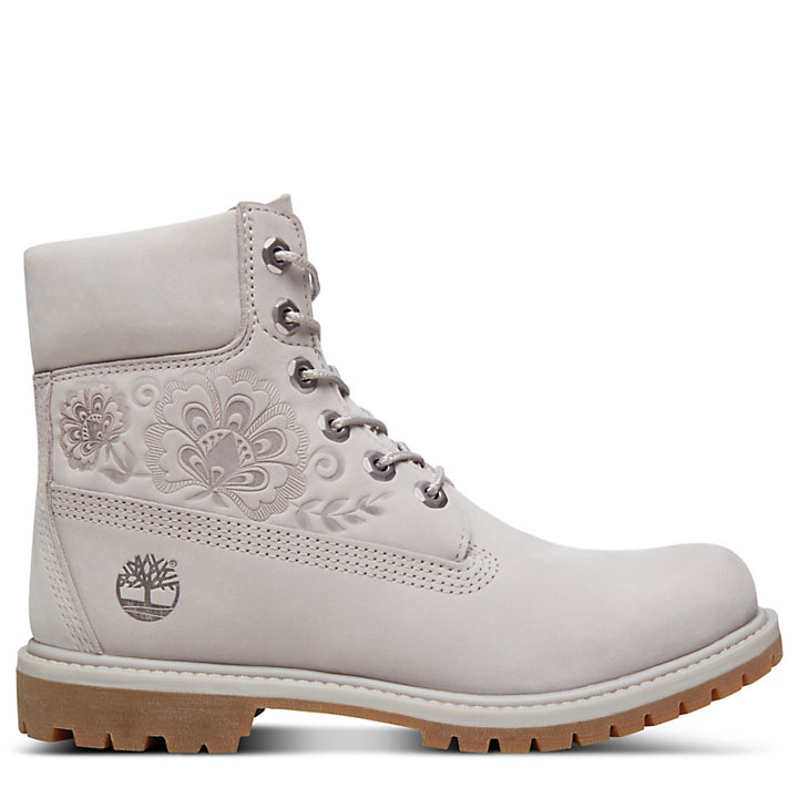 Icon 6 Inch Premium Boot for Women in Pale Grey-