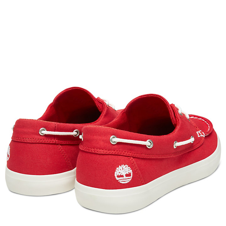 Men's Newport Bay Oxford Boat Shoe Red-