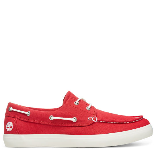 Men's Newport Bay Oxford Boat Shoe Red | Timberland