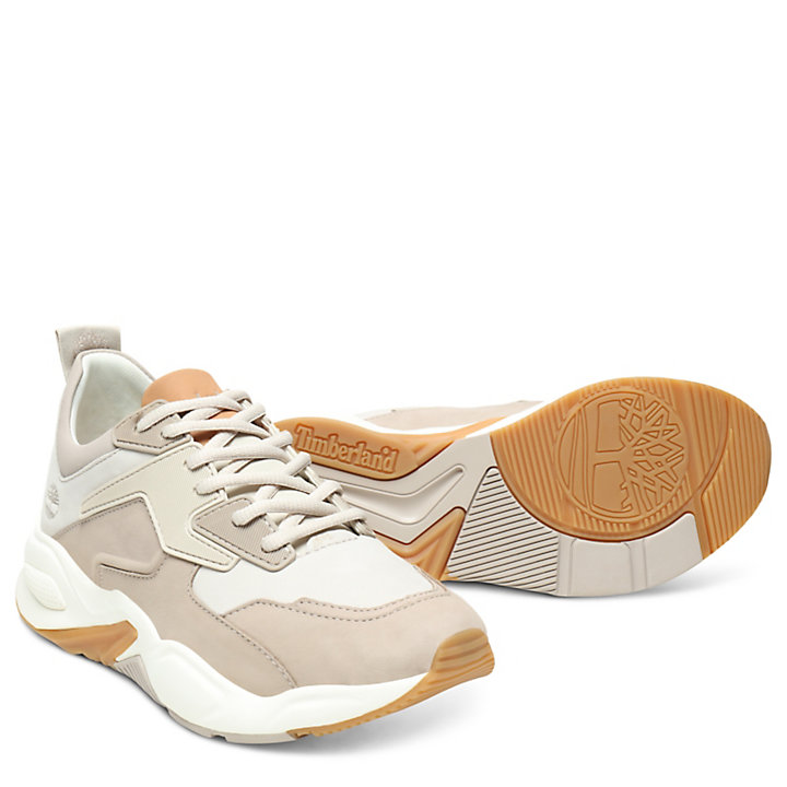Delphiville Leather Sneaker for Women in Beige-