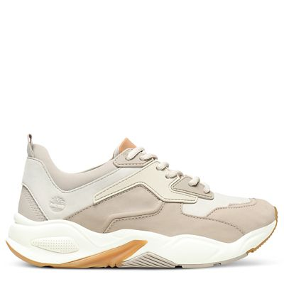Delphiville+Leather+Sneaker+for+Women+in+Beige