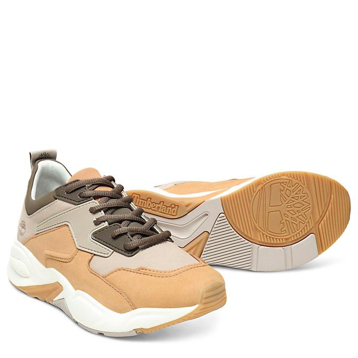 Sneaker da Donna in Pelle Delphiville Marrone Chiaro-