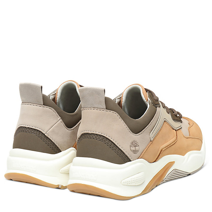 Delphiville Leather Sneaker for Women in Light Brown-