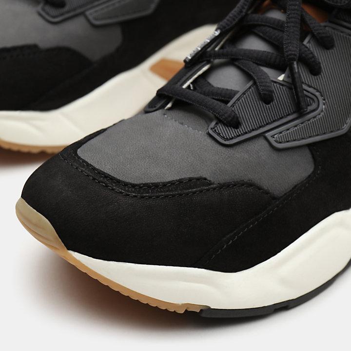 Delphiville Leren Sneaker voor Dames in zwart-
