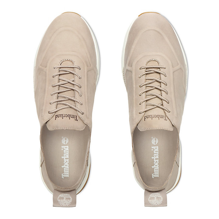 Kiri Up Leather Oxford for Women in Taupe-
