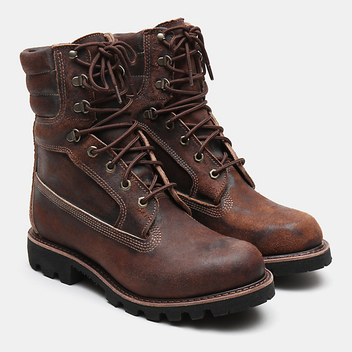 American Craft 8 Inch Boot  for Men in Dark Brown-