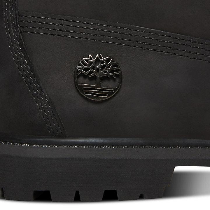 6-Inch Boot premium en velours pour femme en noir-