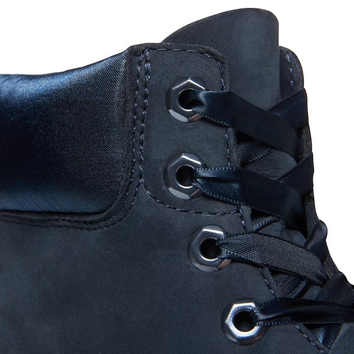 Premium Velvet 6-Inch Stiefel für Damen in Navyblau-
