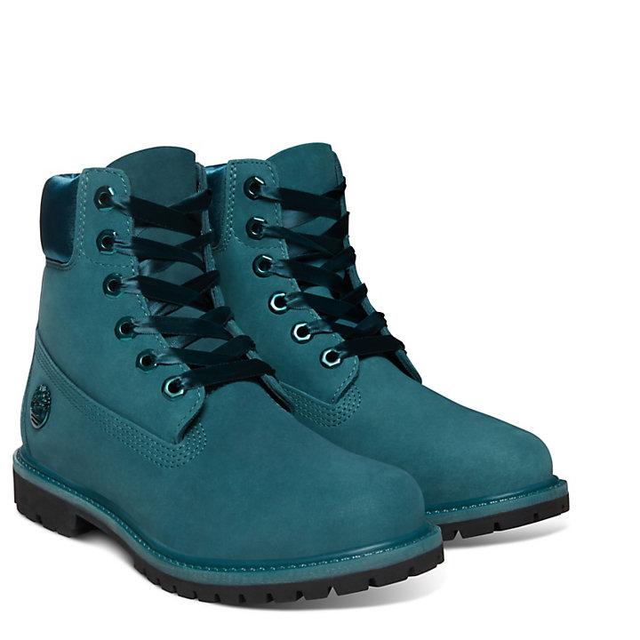 0fa99806d48b Premium Velvet 6 Inch Boot for Women in Blue