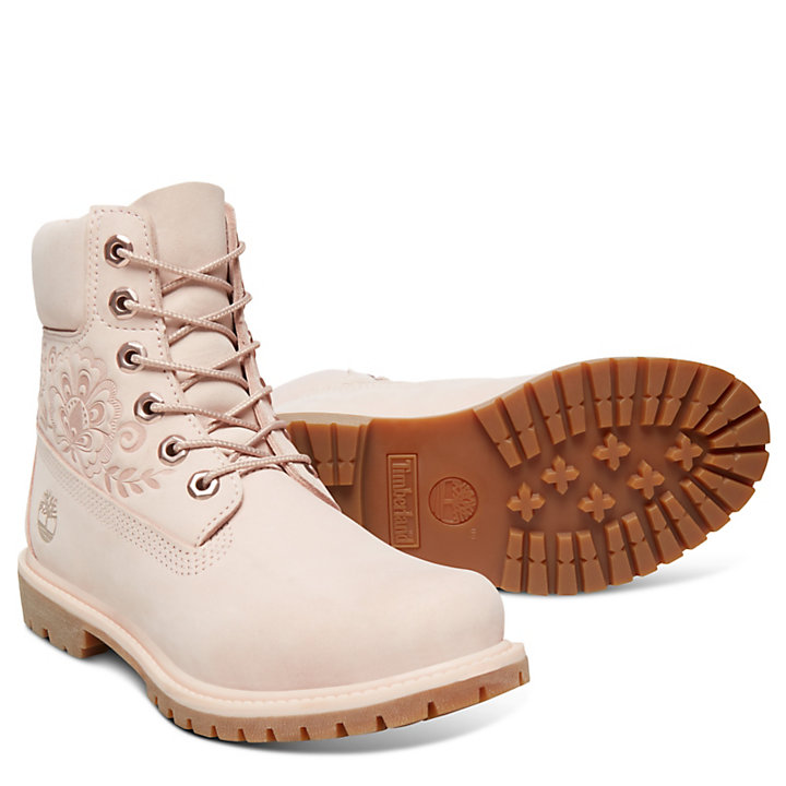 Icon 6 Inch Premium Boot for Women in Pale Pink-