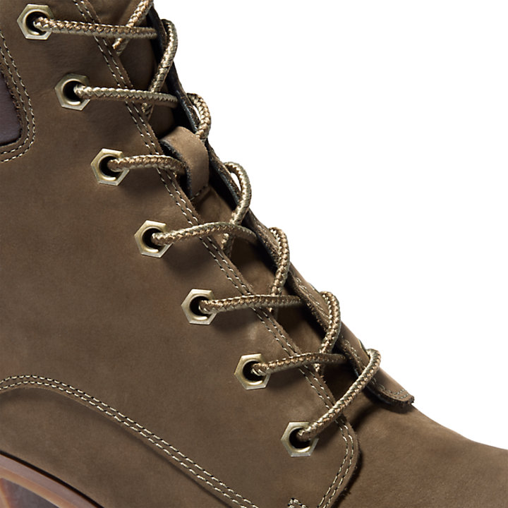 Allington 6 Inch Lace-Up Boot voor Dames in groen-