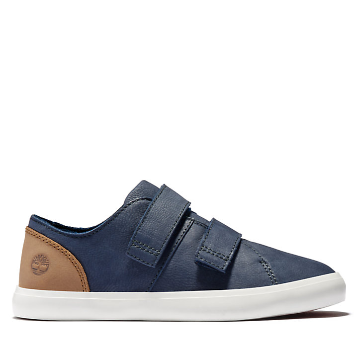 Newport Bay Leather Trainer for Youth in Navy-