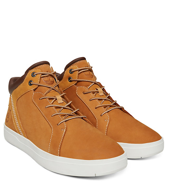 Davis Square Leather Chukka for Men in Yellow-
