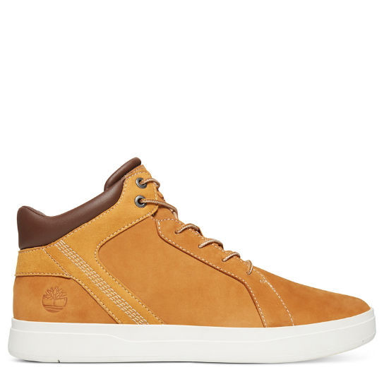 Davis Square Leather Chukka for Men in Yellow | Timberland
