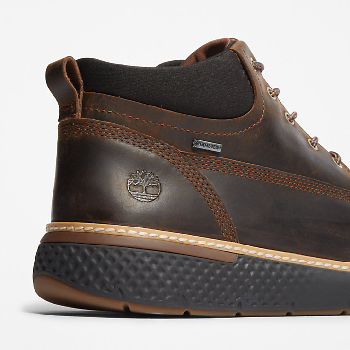 Chukka da Uomo Cross Mark Gore-Tex® in marrone scuro-