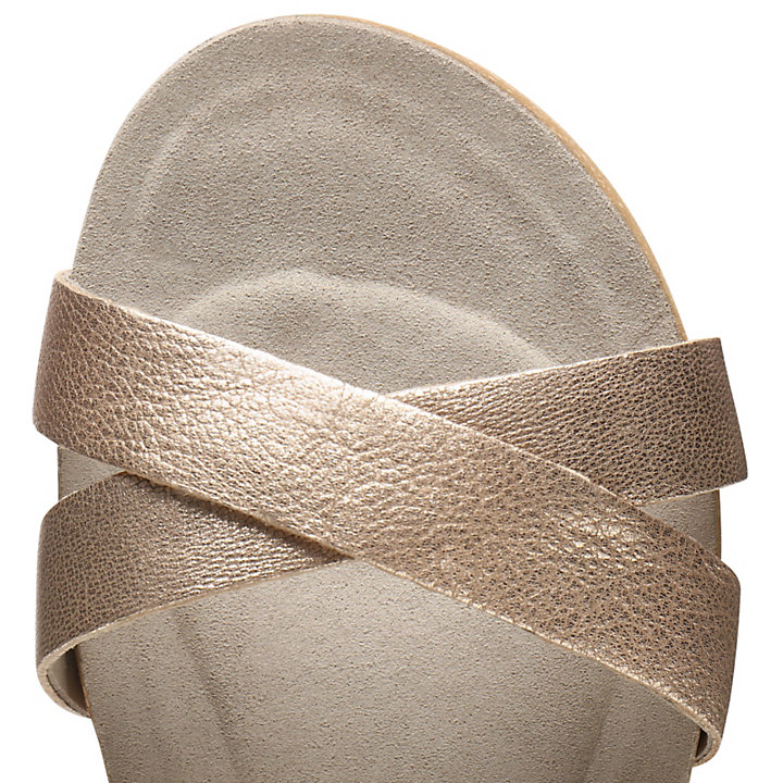 Malibu Waves Strap Sandal for Women in Rose Gold-