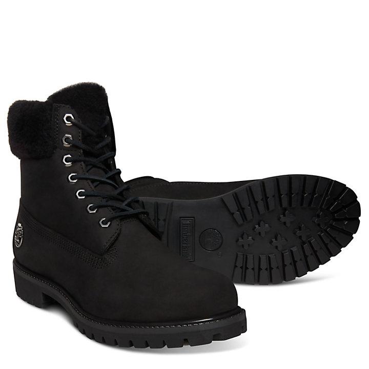 Premium Shearling 6 Inch Boot voor Heren in Zwart-