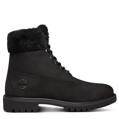 Premium+Shearling+6+Inch+Boot+for+Men+in+Black