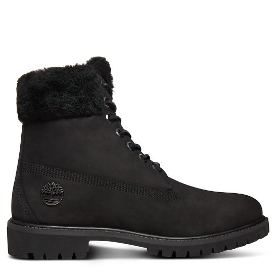 6-inch Boot Shearling Premium pour homme en noir | Timberland