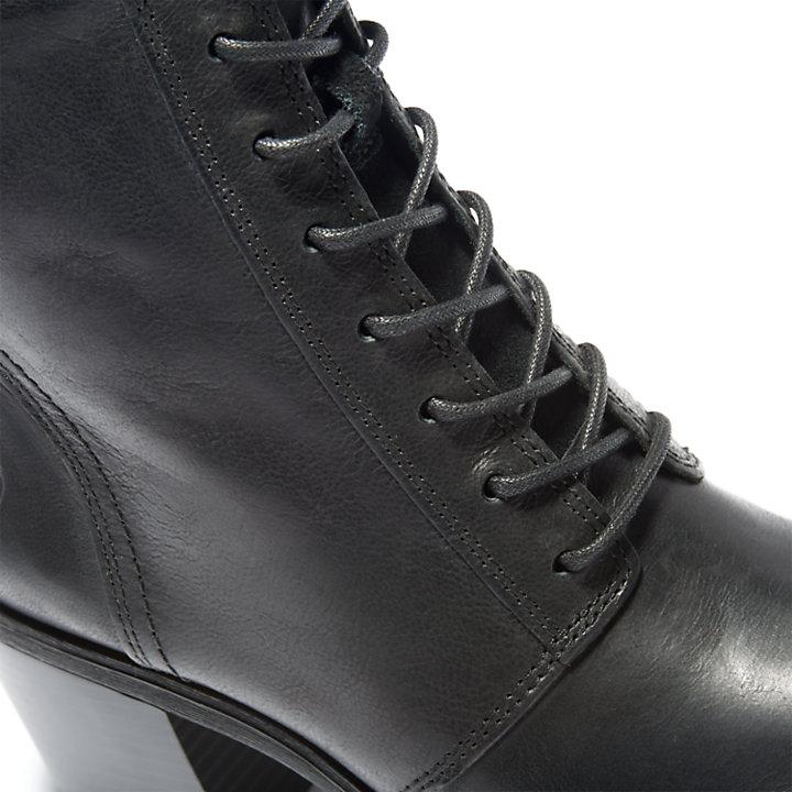 Scarponcino da Donna Stringato Mid in colore nero-