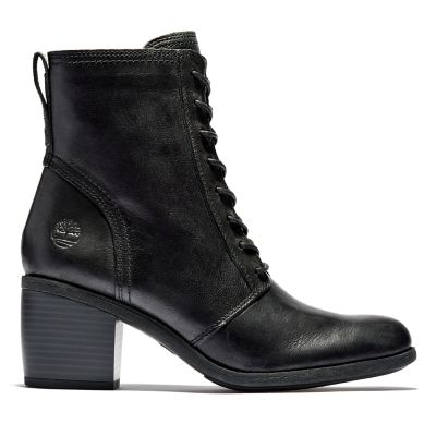 Mid+Lace-up+Boot+for+Women+in+Black
