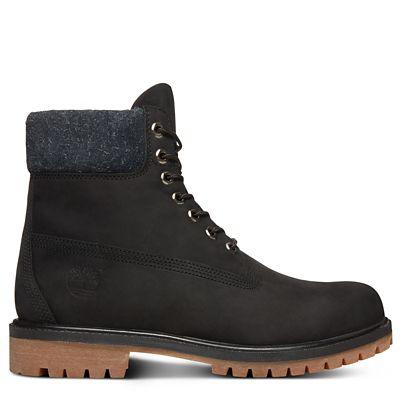 En Daim Premium Timberland Pour 6 Velu Homme Noir Boot Inch USxWwq4T