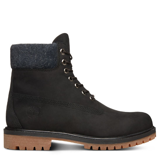 Premium Hairy Suede 6 Inch Boot for Men in Black | Timberland