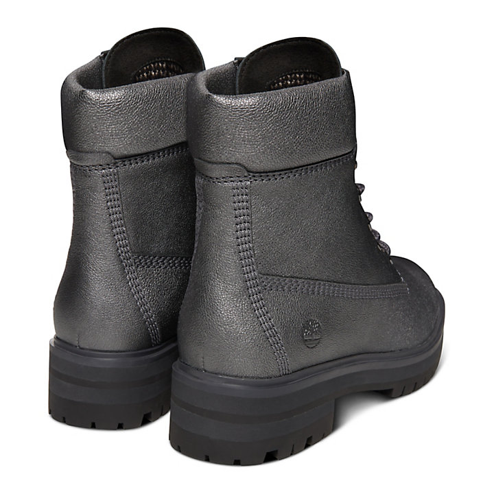 London Square 6 Inch Boot for Women in Silver-