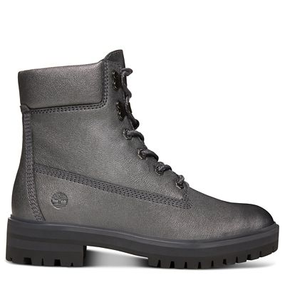 London+Square+6-Inch+Boot+voor+Dames+in+Zilver