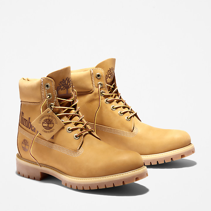 Premium Logo 6 Inch Boot for Men in Yellow-