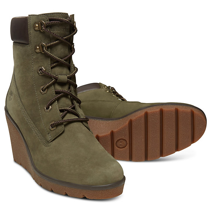 c89d34adc555 Paris Height 6 Inch Boots for Women in Green