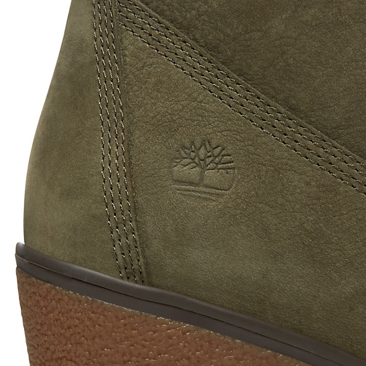 Paris Height 6 Inch Boots for Women in Green-