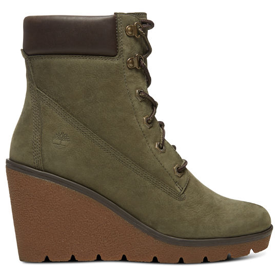 Paris Height 6-Inch-Stiefel für Damen in Grün | Timberland