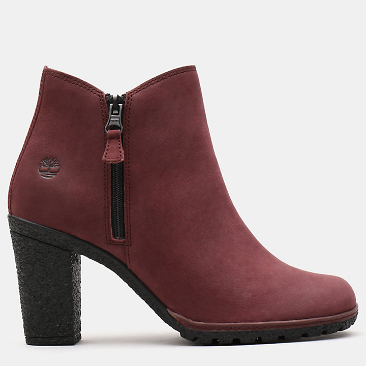 Tillston Zip Up Ankle Boot for Women in Burgundy-