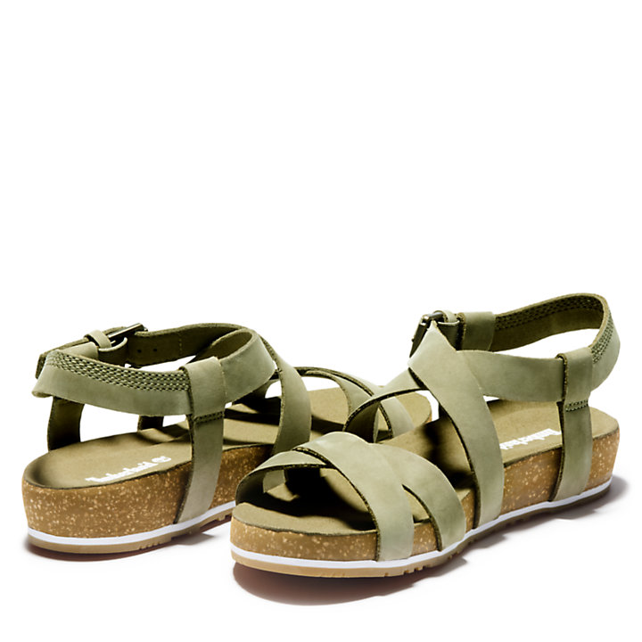 Malibu Waves Strap Sandal for Women in Green-