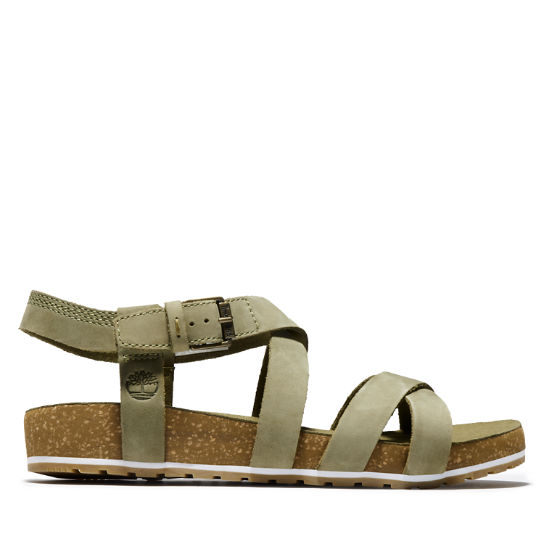 Malibu Waves Strap Sandal for Women in Green | Timberland