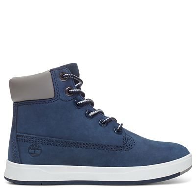 Davis+Square+6-Inch+Boot+Peuters+in+Marineblauw