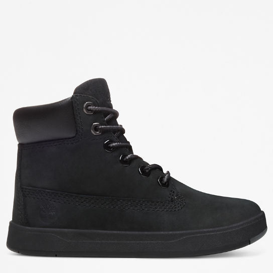 Davis Square High-Top Sneaker for Toddler in Black | Timberland