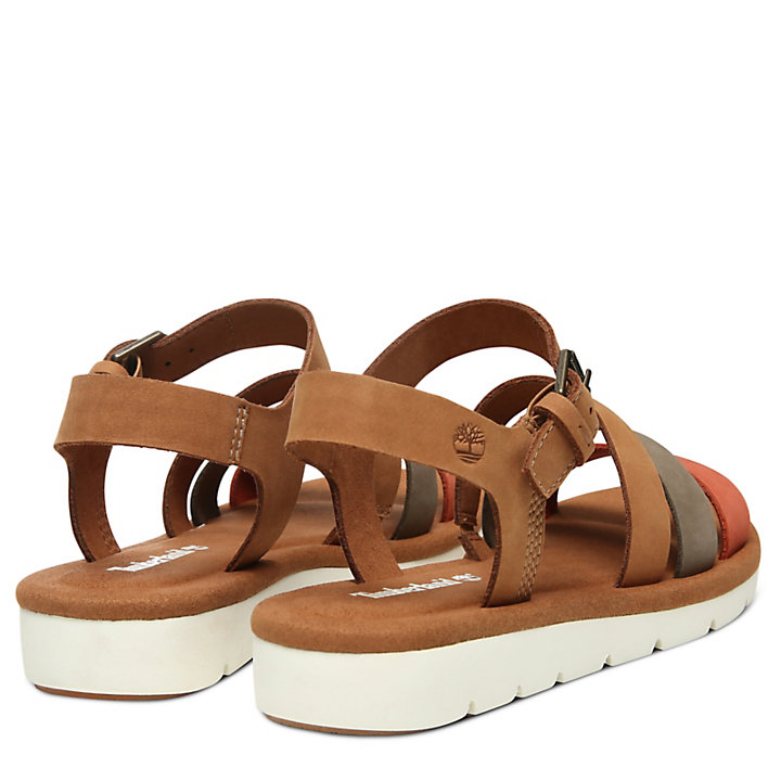 Lottie Lou Multi-Strap Sandal for Women in Light Brown-