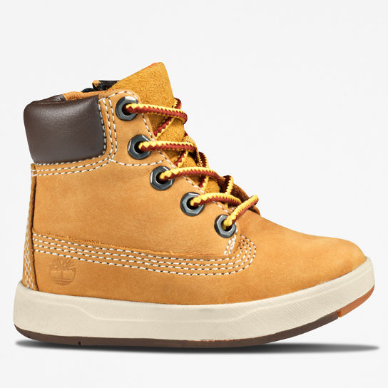 Davis Square High-Top Sneaker for Toddler in Yellow | Timberland
