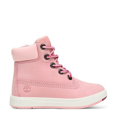 Davis+Square+6-Inch+Boot+Peuters+in+Roze