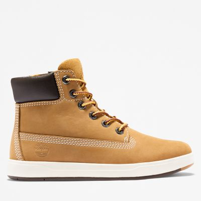 Davis+Square+6+Inch+Boot+for+Juniors+in+Yellow